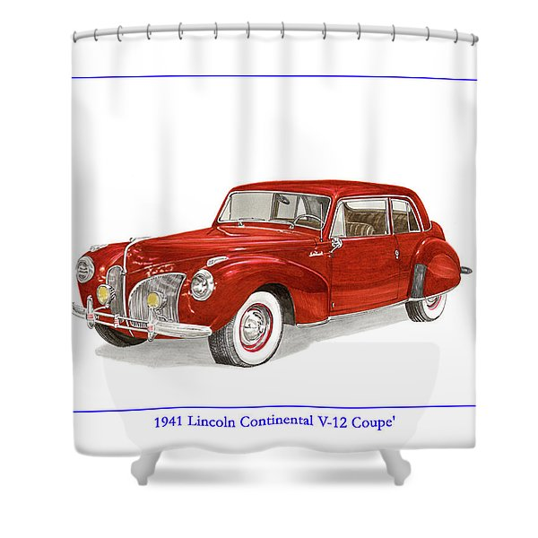1941 Mk I Lincoln Continental Shower Curtain by Jack Pumphrey
