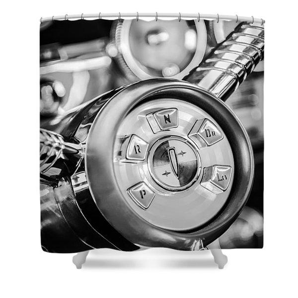 1958 Edsel Ranger Push Button Transmission 2 Shower Curtain by Jill Reger