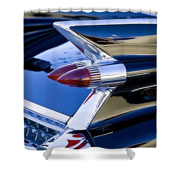 1959 Black Caddy Shower Curtain by Rich Franco