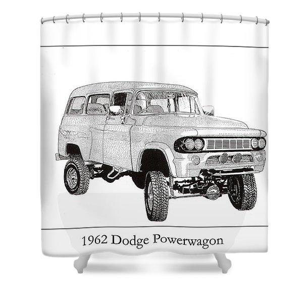 1962 Dodge Powerwagon Shower Curtain by Jack Pumphrey