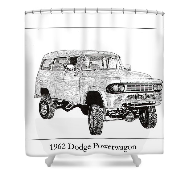 1962 Dodge Powerwagon Shower Curtain by Jack Pumphrey