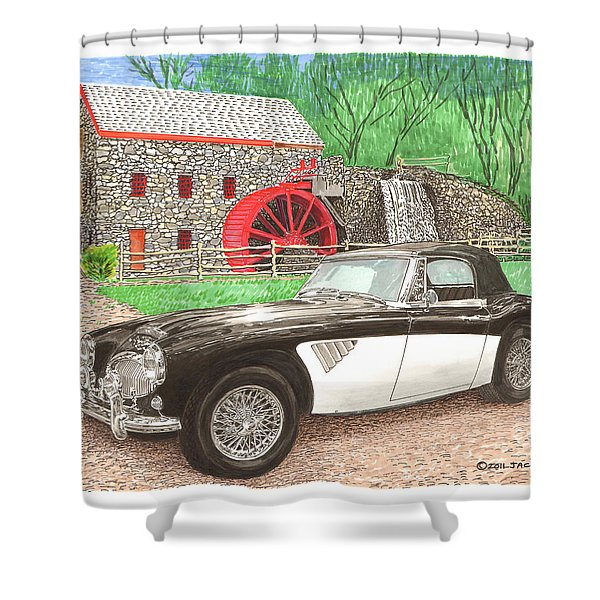 1963 Austin and Sudbury Mill Shower Curtain by Jack Pumphrey