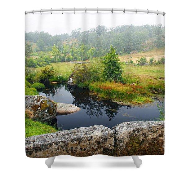 Creek Shower Curtain by Carlos Caetano