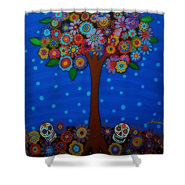 Day Of The Dead Shower Curtain by Pristine Cartera Turkus