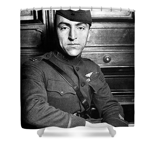 Eddie Rickenbacker Shower Curtain by War Is Hell Store
