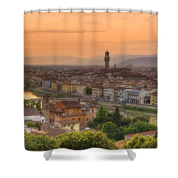 Florence Sunset Shower Curtain by Mick Burkey