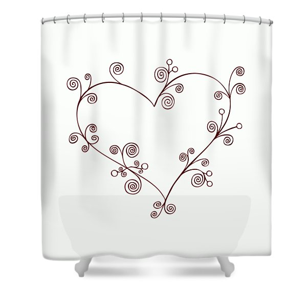 Heart Shower Curtain by Frank Tschakert