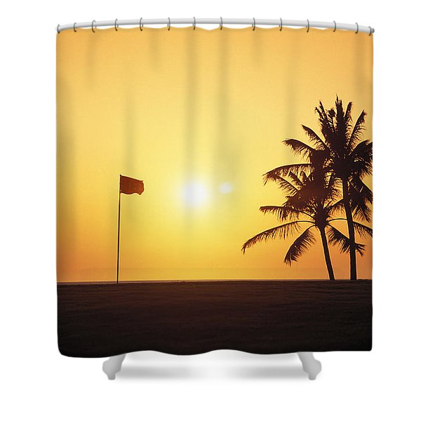 Mauna Kea Beach Resort Shower Curtain by Carl Shaneff - Printscapes
