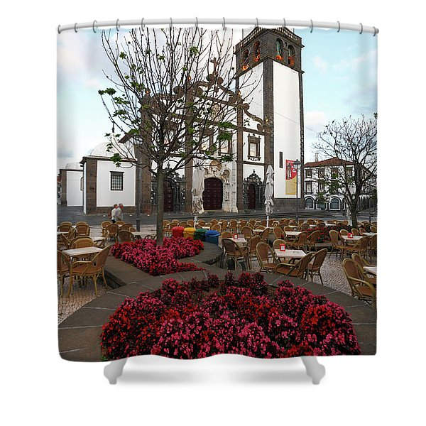 Ponta Delgada - Azores Shower Curtain by Gaspar Avila