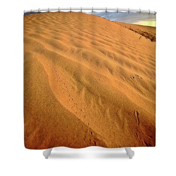 Sand dune at Great Sand Hills in scenic Saskatchewan Shower Curtain by Mark Duffy