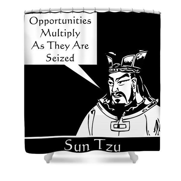 Sun Tzu Shower Curtain by War Is Hell Store