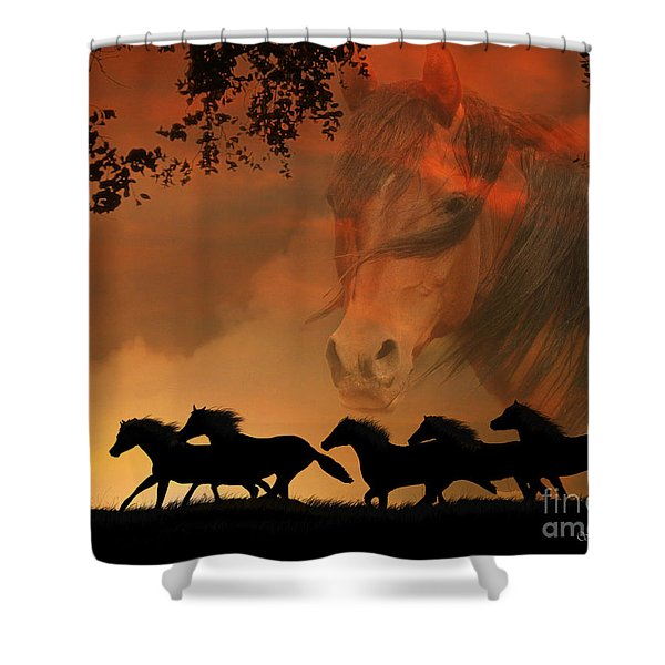 4-ever Free Shower Curtain by Stephanie Laird