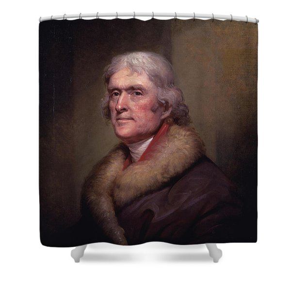 President Thomas Jefferson Shower Curtain by War Is Hell Store