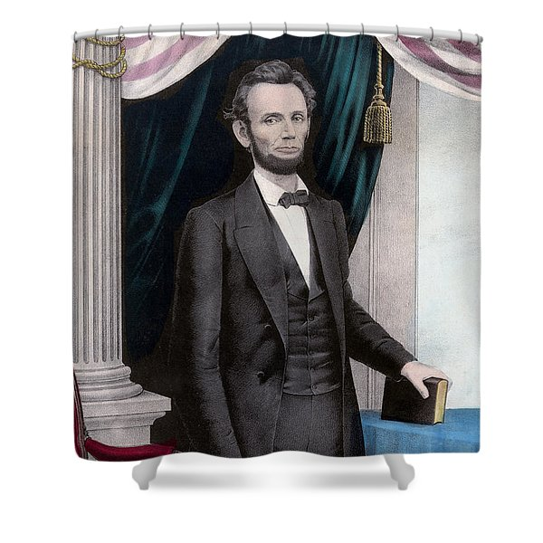 President Abraham Lincoln Shower Curtain by War Is Hell Store