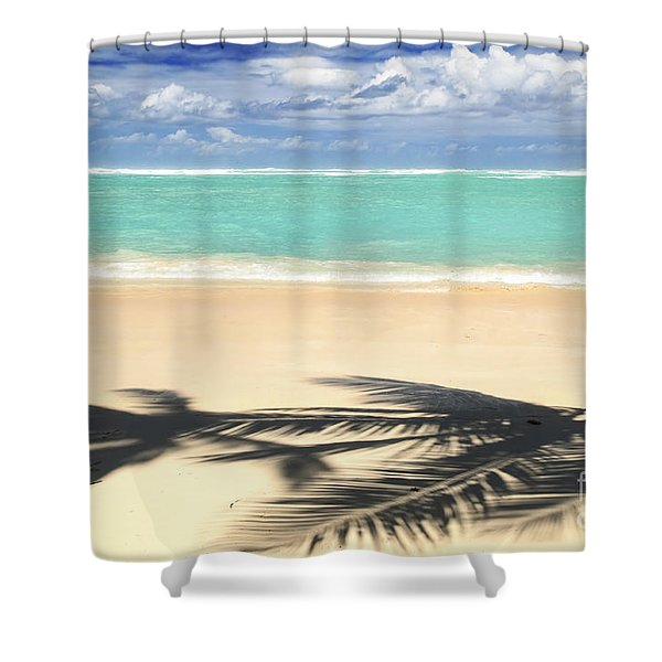 Tropical beach Shower Curtain by Elena Elisseeva