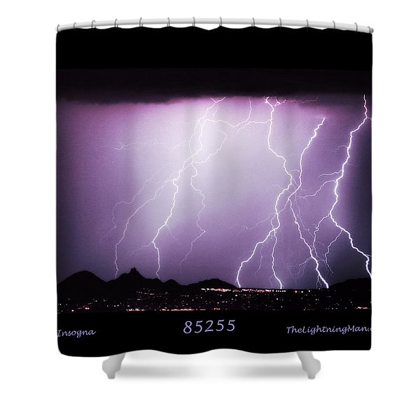 85255 Fine Art Arizona Lightning Photo Poster Shower Curtain by James BO  Insogna