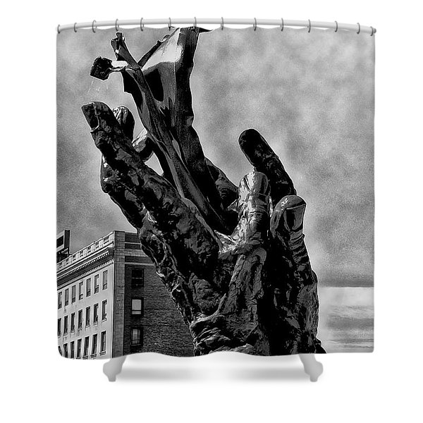 911 Memorial - Norristown Shower Curtain by Bill Cannon