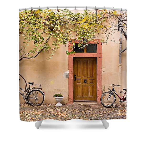 A Back Lane in Speyer Shower Curtain by Louise Heusinkveld