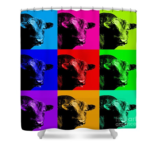A Bunch of Bull Shower Curtain by Wingsdomain Art and Photography