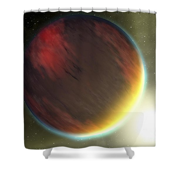 A Cloudy Jupiter-like Planet That Shower Curtain by Stocktrek Images