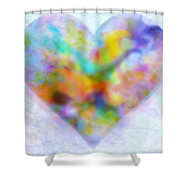 A Gentle Heart Shower Curtain by WBK