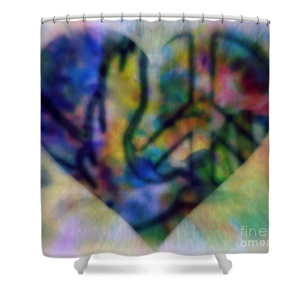 A Heart For Peace Shower Curtain by WBK