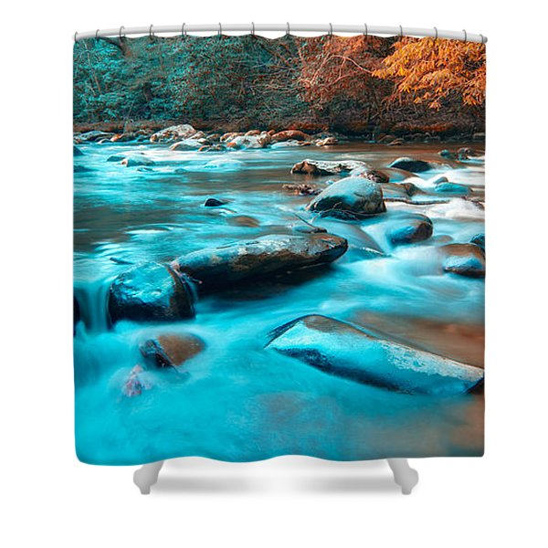 A Moment in the Great Smoky Mountains Shower Curtain by Rich Leighton