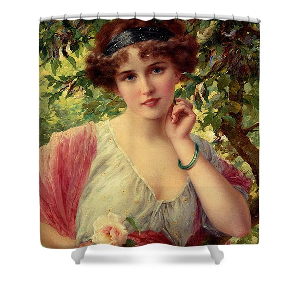 A Summer Rose Shower Curtain by Emile Vernon