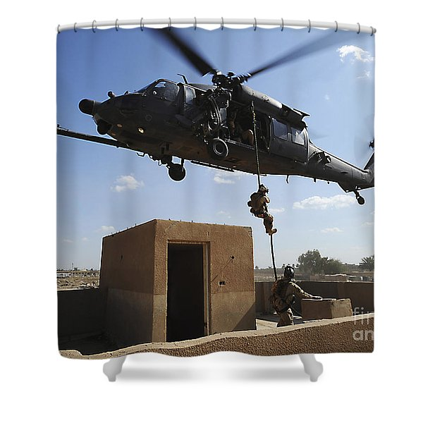 A U.s. Air Force Pararescuemen Fast Shower Curtain by Stocktrek Images