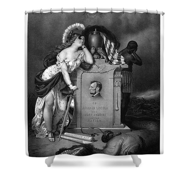 Abraham Lincoln In Memoriam Shower Curtain by War Is Hell Store