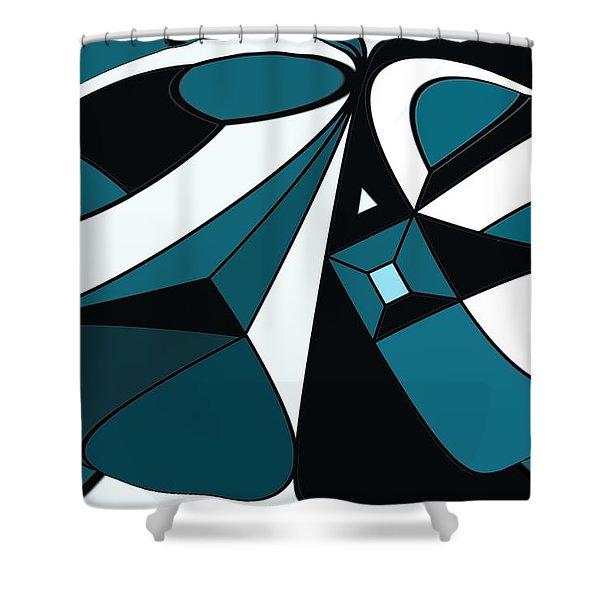 Abstrac7-30-09-a Shower Curtain by David Lane