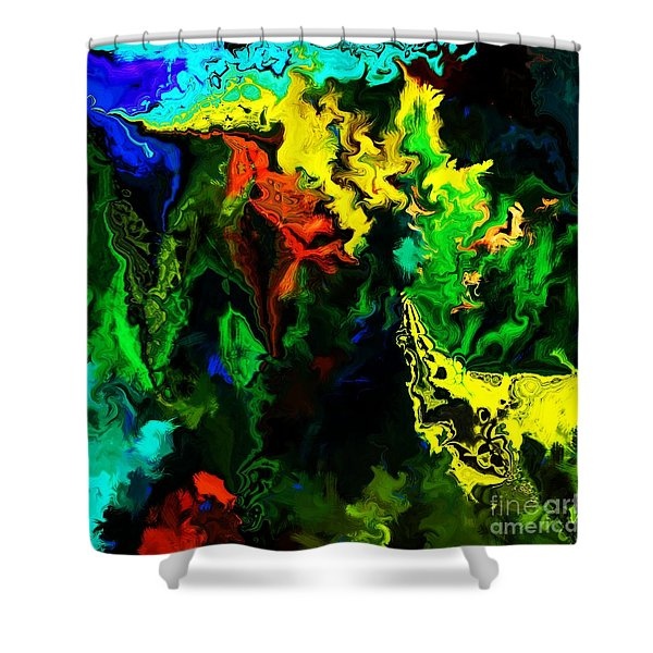 abstract 2-23-09 Shower Curtain by David Lane