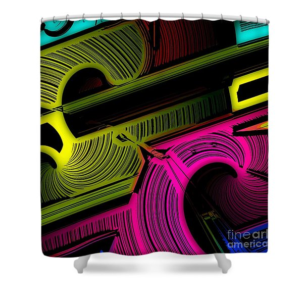 Abstract 6-21-09 Shower Curtain by David Lane