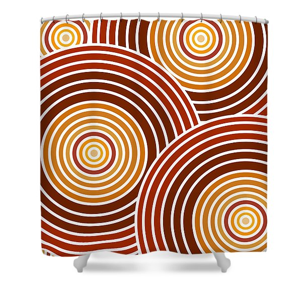 Abstract Circles Shower Curtain by Frank Tschakert