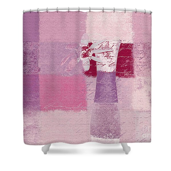 Abstract Floral - 11v3t09 Shower Curtain by Variance Collections