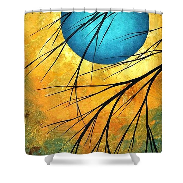 Abstract Landscape Art Passing Beauty 1 Of 5 Shower Curtain by Megan Duncanson
