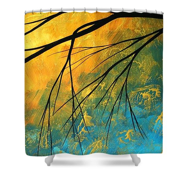 Abstract Landscape Art Passing Beauty 2 Of 5 Shower Curtain by Megan Duncanson