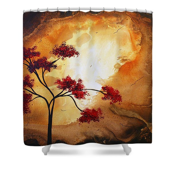 Abstract Landscape Painting Empty Nest 12 By Madart Shower Curtain by Megan Duncanson