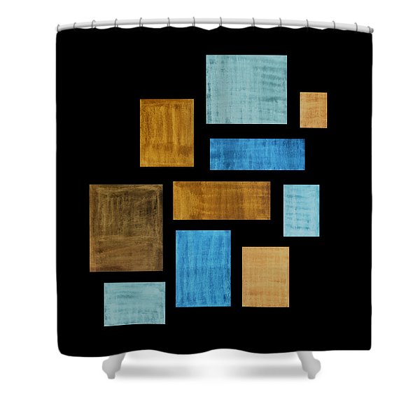 Abstract Rectangles Shower Curtain by Frank Tschakert