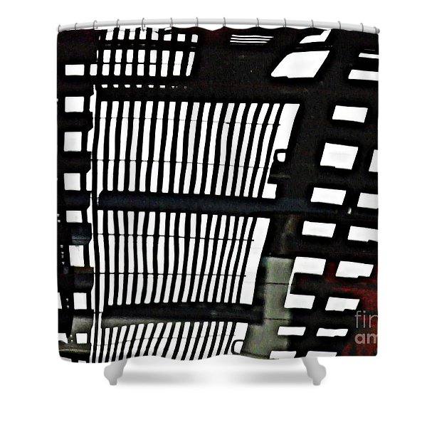 Abstract Reflection 16 Shower Curtain by Sarah Loft