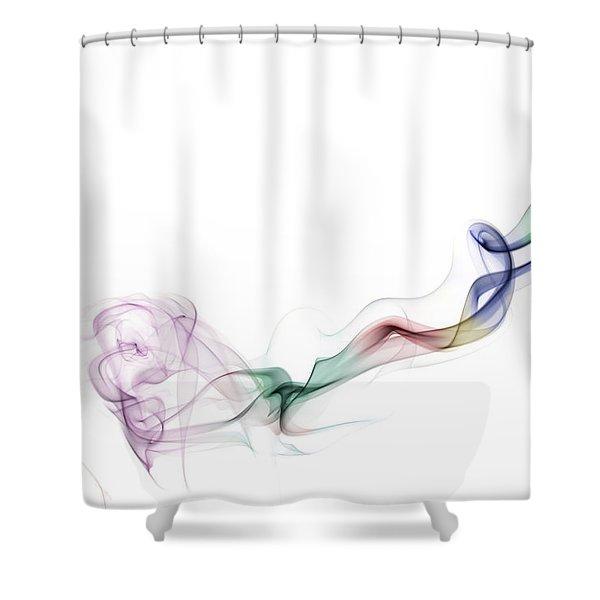 Abstract smoke Shower Curtain by Setsiri Silapasuwanchai