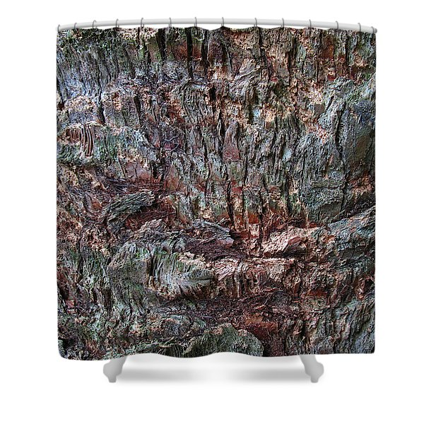 Abstract Tree Bark Shower Curtain by Juergen Roth