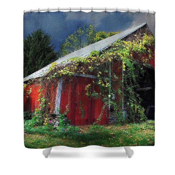 Adams County Winery Shower Curtain by Lori Deiter