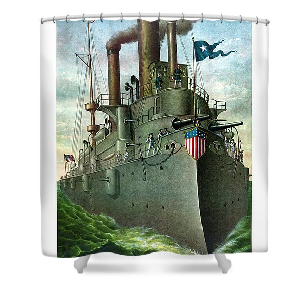 Admiral Dewey's Flagship Olympia Shower Curtain by War Is Hell Store