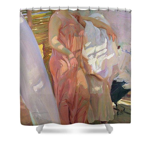 After the Bath Shower Curtain by Joaquin Sorolla y Bastida