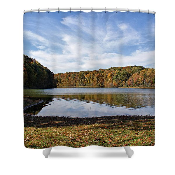 Afternoon at the Lake Shower Curtain by Sandy Keeton