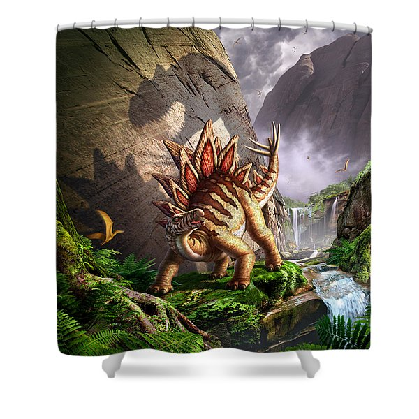 Against the Wall Shower Curtain by Jerry LoFaro