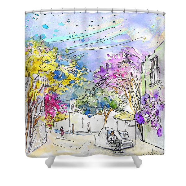 Agua Amarga 12 Shower Curtain by Miki De Goodaboom