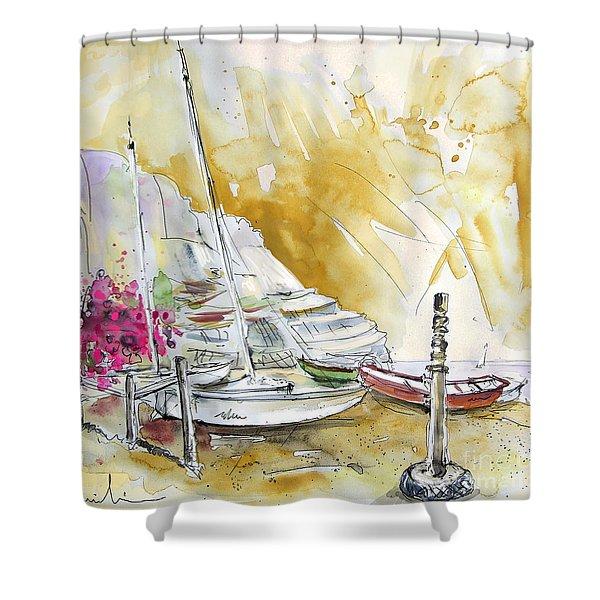 Agua Amarga 13 Shower Curtain by Miki De Goodaboom