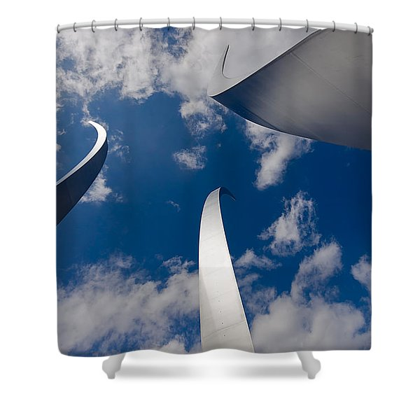 Air Force Memorial Shower Curtain by Louise Heusinkveld
